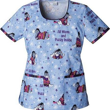 Buy Tooniforms Women Warm and Fuzzy Round Neck Scrub Top for $22.45