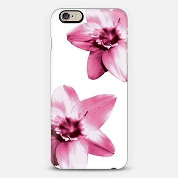 flowers on white iPhone 6 case by Julia Grifol Diseñadora Modas-grafica | Casetify
