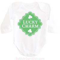 Lucky Charm Shirt Shamrock Shirt Irish Baby Outfit My First St. Patrick's Day Ireland Clover OnePiece My 1st St Patricks Bodysuit