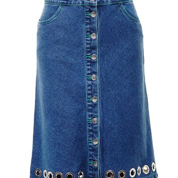 Christine Denim Skirt - AMERICAN RETRO