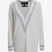 rag & bone Talia Cashmere Varsity Sweater at INTERMIX | Shop Now | Shop IntermixOnline.com