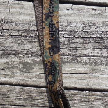 US Marine Girlfriend Lanyard, Woodland Camo, Military Embroidered Lanyard, US Marine Armed Forces Lanyard