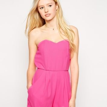 Love Strapless Playsuit with Boning