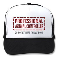 Professional Animal Controller Mesh Hat from Zazzle.com