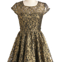Golden Garden Dress | Mod Retro Vintage Dresses | ModCloth.com
