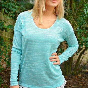 Groovy Knit Top with Crochet Trim