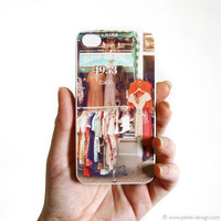 iPhone 4 Case. Shabby Vintage fashion shop. Unique Accessory for iPhone 4 / 4s. Colorful Vintage inspire photo, orange peach green