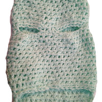 Sea Form Green Dog Sweater Small, Teal Dog Sweater,Pet Apperal