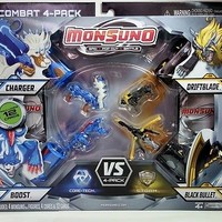 Monsuno 4-Pack 99 CENT AUCTION 3 Charger 04 Driftblade 05 Black Bullet 23 Boost