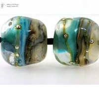 Lampwork beads River Dream Organics handmade glass art for Jewelry