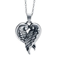Sterling Silver,Angel Wings,Heart Pendant Necklace: Jewelry: Amazon.com