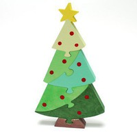 Christmas Tree Puzzle and Decoration - Standing Decor