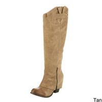Fergie Women's 'Ledger Too' Leather Boots | Overstock.com