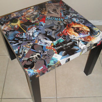 Batman Comic Collage Table