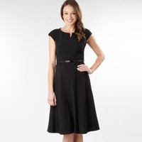 Black tailored shift dress - Day dresses - Dresses - Women -
