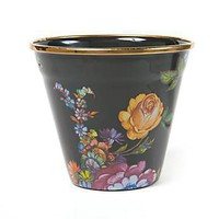 MacKenzie-Childs - Flower Market Enamel Pot - Black