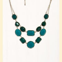 Set in Stone Necklace in Turquoise - Francesca&#x27;s Collections