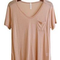 Flimsy Boyfriend Tee, Peach
