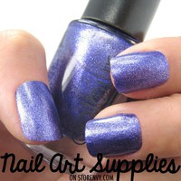 Purple Shimmer - Bright Purple Glitter Nail Polish Lacquer 9.8ml from nailartsupplies