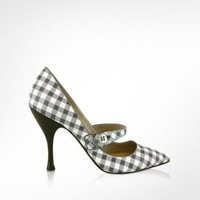 Marc Jacobs Gingham Pumps | FORZIERI