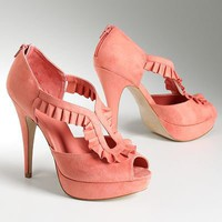ELLE Platform Peep-Toe High Heels