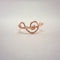 Music Note Ring, Rose Gold