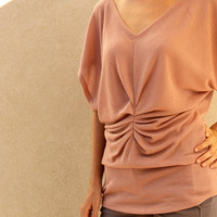 Pink Champagne Top, Fall Fashion, Women Top, Pastel Pink Shirt