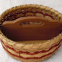 Handwoven Grab N Go Basket in Red