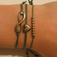 Infinity Bracelet Set  - Stackable Bracelets