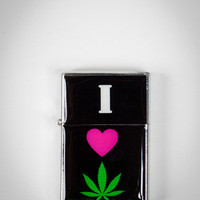 'I Heart Pot Leaf' Lighter