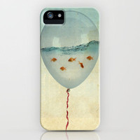 balloon flying fish iPhone Case by Vin Zzep | Society6