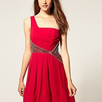 Warehouse | Warehouse Embellished Waist Dress at ASOS
