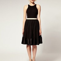 ASOS | ASOS Mesh Overlay Midi Skirt at ASOS