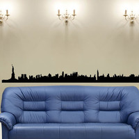 New York Skyline Statue of Liberty 40 inches wide Vinyl Wall Decal Sticker B0901
