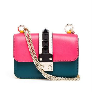 Small Leather Rockstud Bag - VALENTINO