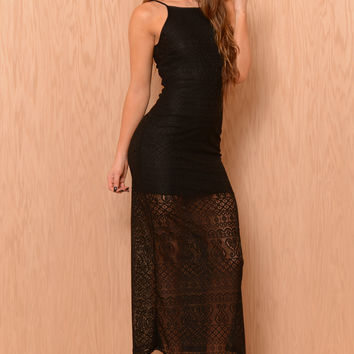 Queen of Lace Dress - Black