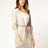 Warehouse | Warehouse Belted Double Pocket Cardigan at ASOS