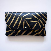 I liked this design on #Fab. Golden Palm Wallet Pouch