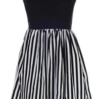 Monochrome Sweetheart Dress | Women's Dresses | RicketyRack.com