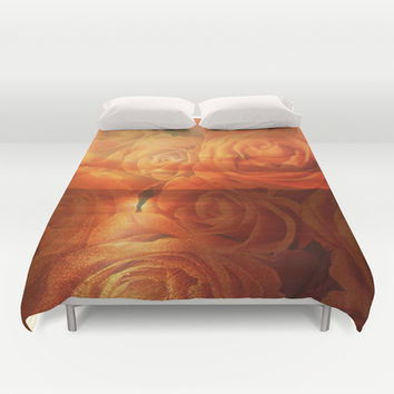 Roses and Sunset Duvet Cover by Erika Kaisersot
