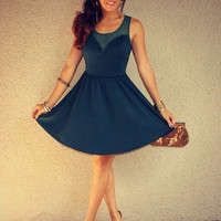 Mesh Sweetheart 'Jasmine' Dress