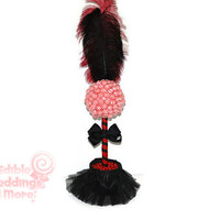 Can Can Dancer Lollipop Topiary, Moulin Rouge Candy Centerpiece, Red and Black, Moulin Rouge, Party, Centerpiece, Candy Topiary, Decoration