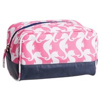 Cape Cod Sleepover Toiletry Bag, Pink Seahorse