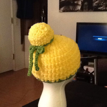 Tinkerbell Crochet Beanie - all sizes - made to order