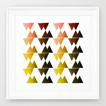Triangles Framed Art Print by VanessaGF