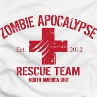 Zombie Apocalypse 2012 Rescue Team t-shirt by The Shirt Dudes