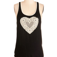 ModCloth Mid-length Racerback Crochet You Love Me Top