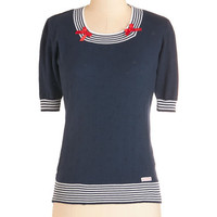 ModCloth Nautical Mid-length Short Sleeves More Often than Nautical Sweater