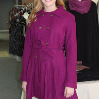 Belted Coat - Raspberry