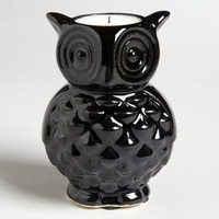 Black Ceramic Owl Candles, | World Market